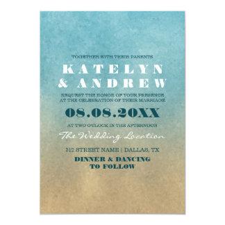 Strand Ombre Hochzeits-Einladung Karte