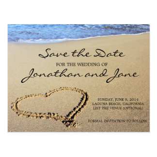 Strand-Ozean, der Save the Date Wedding ist Postkarte