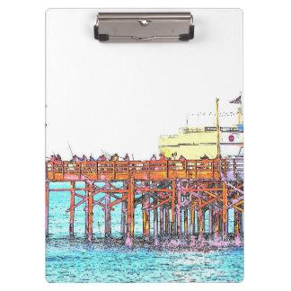 Strand-Ozean-Küsten-SeeSumpfgebiete Kalifornien Klemmbrett