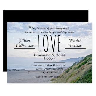 Strand/Ozean-Liebe - Einladung der Hochzeits-3x5