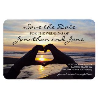 Strand-Ozean-Liebe-Herz, das Save the Date Wedding Magnet