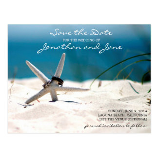 Strand-Ozean schellt die Starfish, die Save the Postkarte