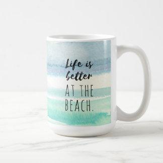Strand-Ozean-Themed Dekorwatercolor-Tasse Kaffeetasse
