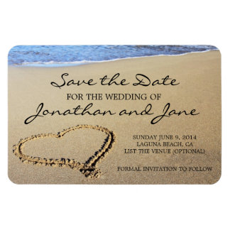 Strand-Ozean Wedding Deluxe Save the Date Magnet
