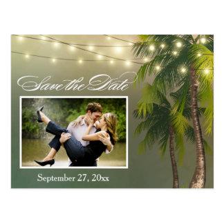 Strand-Palme-tropische Save the Date Postkarten