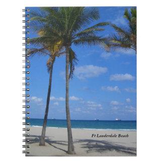 Strand-Palme-Zeitschrift Ft Lauderdale Florida Spiral Notizblock
