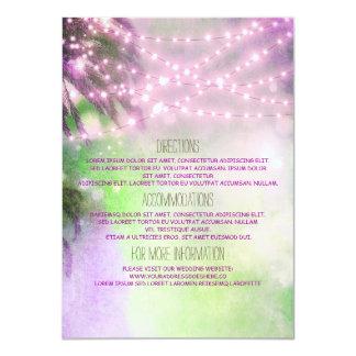 Strand-Palmen, die Details - Informationen Wedding 11,4 X 15,9 Cm Einladungskarte