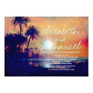 Strand-Palmen-Licht-Verlobungs-Party Einladungen