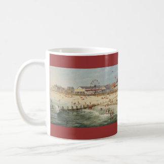 """Strand-Panorama Pauls McGehee """"Rehoboth - 1925"""" Kaffeetasse"""