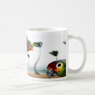 Strand-Papageien Kaffeetasse