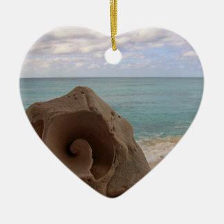 Strand-Paradies des Seashell-| Keramik Ornament