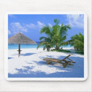 Strand-Paradies-Ferien Mousepads