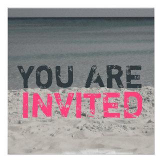 Strand-Party Einladung