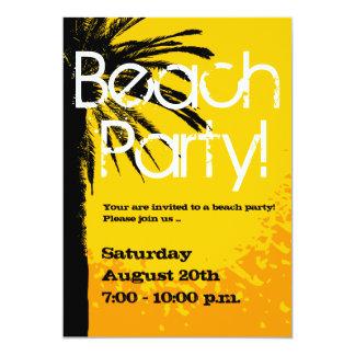 Strand-Party Einladungen mit Palmensonnenuntergang
