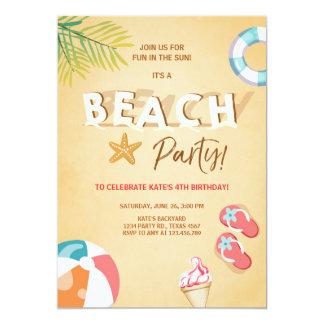 Strand-Party Einladungs-Strand-Geburtstag GRILLEN Karte