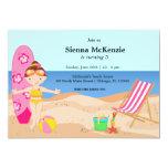 Strand-Party (Mädchen) Einladungskarte