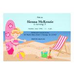 Strand-Party (Mädchen) Personalisierte Einladungen