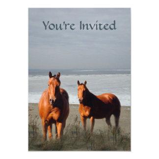 Strand-Pferdeeinladung 12,7 X 17,8 Cm Einladungskarte
