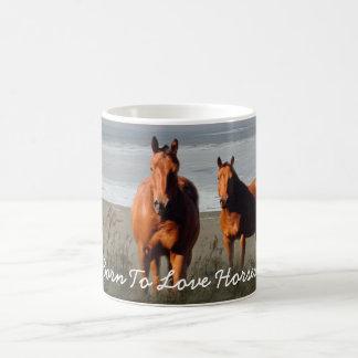 Strand-PferdeTasse Kaffeetasse