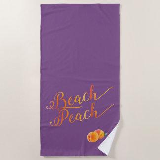 Strand-Pfirsich-Pfirsiche und helle Farben Strandtuch