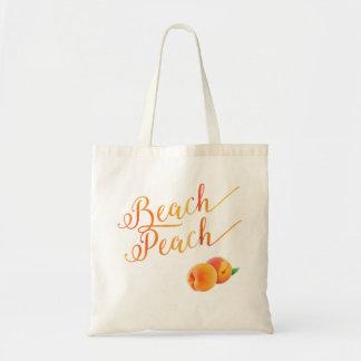 Strand-Pfirsich-tropische Frucht Tragetasche