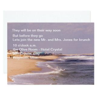 Strand-Pracht-Posten-Hochzeits-Brunch-Einladungen 12,7 X 17,8 Cm Einladungskarte