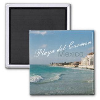 Strand-Reise-Kühlschrankmagnet Playa del Carmen Me Quadratischer Magnet