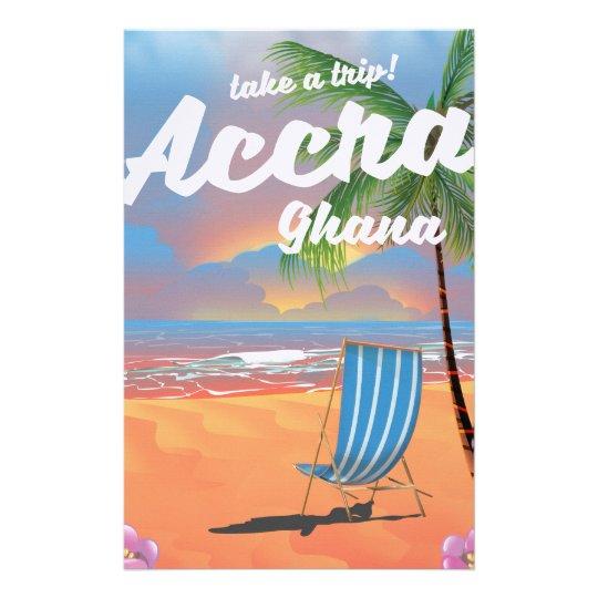 Strand-Reiseplakat Accras Ghana Briefpapier