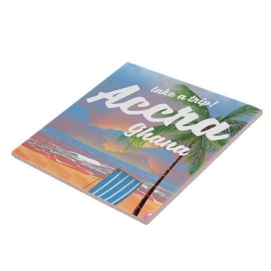 Strand-Reiseplakat Accras Ghana Große Quadratische Fliese