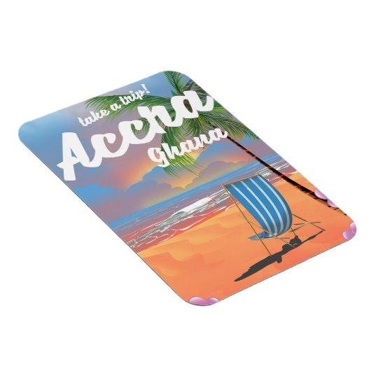 Strand-Reiseplakat Accras Ghana Magnet