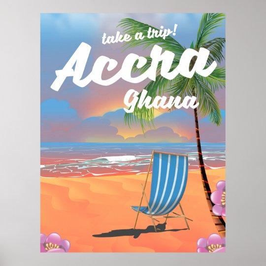 Strand-Reiseplakat Accras Ghana Poster