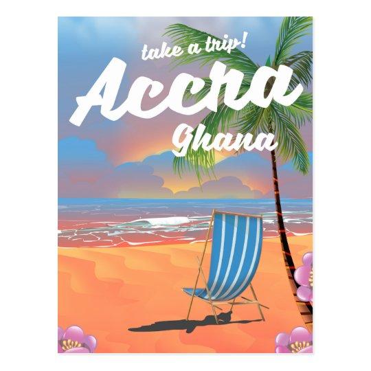 Strand-Reiseplakat Accras Ghana Postkarte