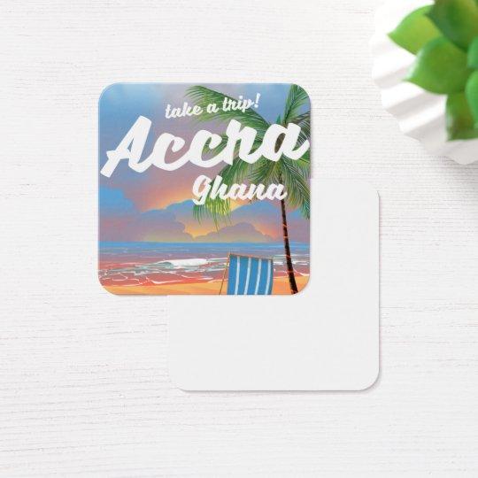 Strand-Reiseplakat Accras Ghana Quadratische Visitenkarte