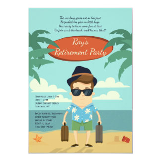 Strand-Ruhestands-Party Einladung
