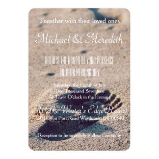 Strand-Sand-Abdruck-Hochzeits-Einladung 12,7 X 17,8 Cm Einladungskarte