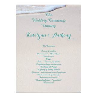 Strand-Sand-Hochzeits-Zeremonie-Programme Karte