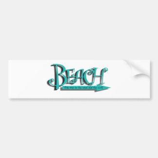 Strand Sand-nbrandung Autoaufkleber