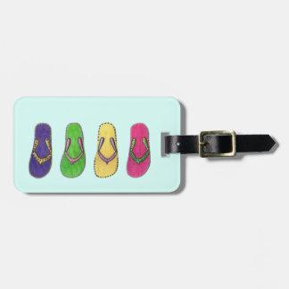 Strand-Sandalen Gepäckanhänger