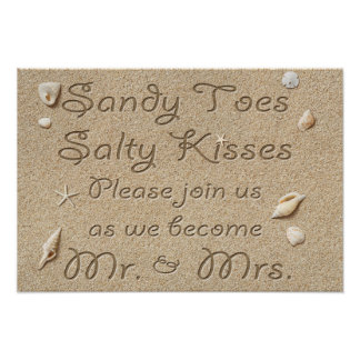 Strand Sandy Toes salzige Küsse Herr u. Frau