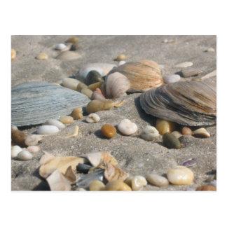 Strand-Schätze Postkarte