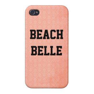 Strand-Schönheit: Korallenroter rosa Schmutz-Druck iPhone 4 Case