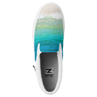 Strand-Seeufer-Sand-Ozean-Beleg auf Turnschuhen Slip-On Sneaker