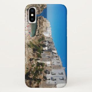 Strand-Sehenswürdigkeitarchitekt Polignano iPhone X Hülle