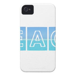 Strand Sillouette Entwurf blau u. schön iPhone 4 Case-Mate Hülle