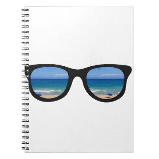 Strand-Sonnenbrille Notizblock