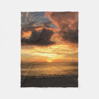 Strand-Sonnenuntergang Fleecedecke