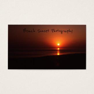 Strand-Sonnenuntergang, helle orange Visitenkarte