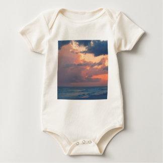 Strand-Sonnenuntergang-Himmel Destin Baby Strampler