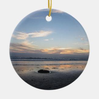 Strand-Sonnenuntergang - Keramik Ornament