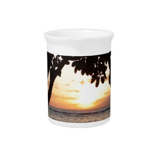 Strand-Sonnenuntergang Mauis Hawaii Getränke Pitcher